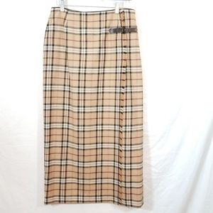Nova check wool plaid buckle maxi skirt Rafaella 8